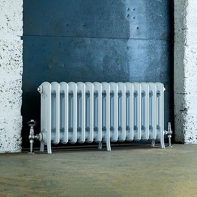 The Edwardian 4 Column Aluminium Radiator | 450mm Tall | White | Arroll