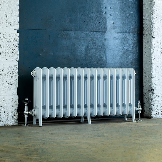 The Edwardian 4 Column Aluminium Radiator | 460mm Tall | White | Arroll