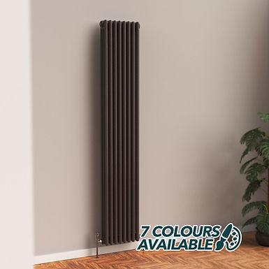 Fitzrovia 3 Column Steel Radiator Vertical | Coloured | Foundry