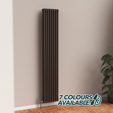 Fitzrovia 3 Column Steel Radiator Vertical | Coloured | Foundry