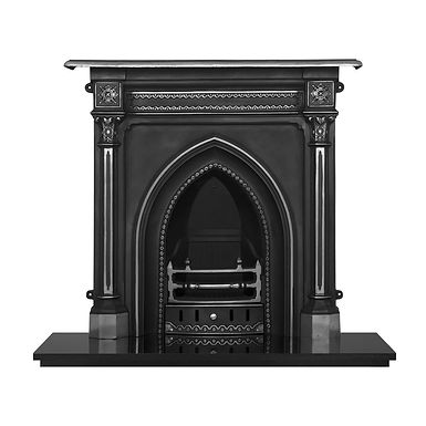 Gothic Cast Iron Combination Fireplace | Highlighted | Carron