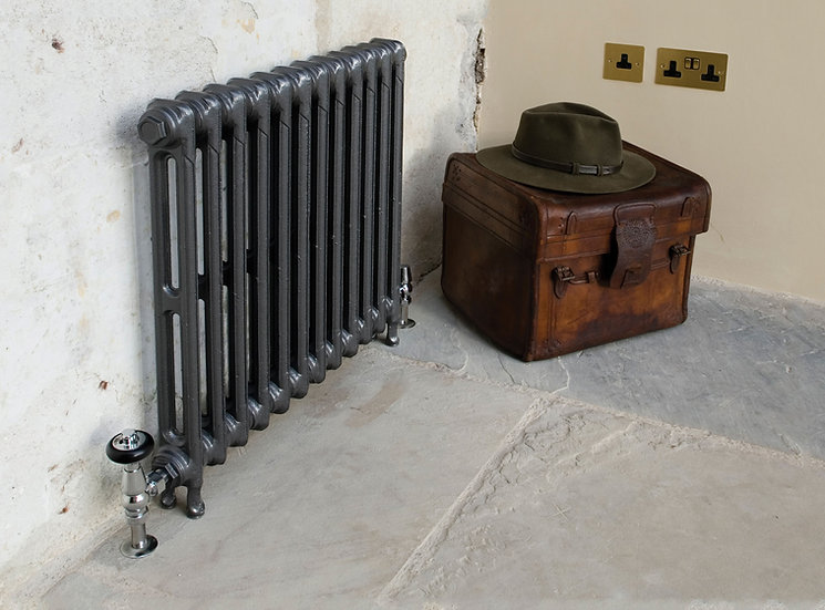 Carron Victorian 615 2 Column Cast Iron Radiator in Graphite Grey