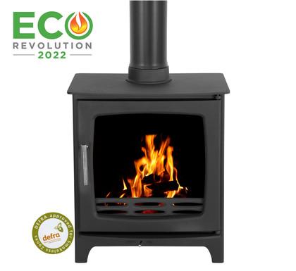 Carron ECO Revolution 5kW Cast Iron Stove | Matte Black