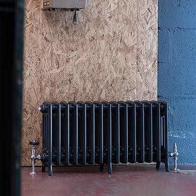 The Edwardian 4 Column Aluminium Radiator | 450mm Tall | Anthracite | Arroll