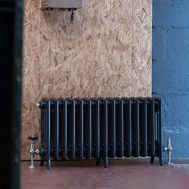 The Edwardian 4 Column Aluminium Radiator | 450mm Tall | Anthracite | Arroll