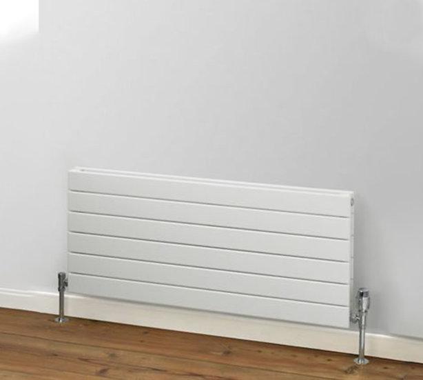 Primrose Horizontal Steel Radiator white | double | Foundry