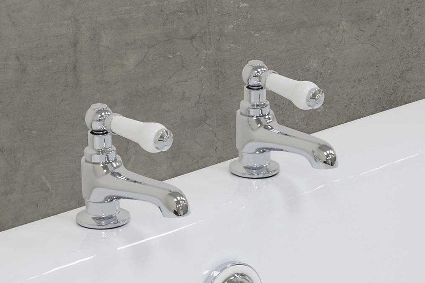 Rim Mounted Bath Taps with Porcelain Handles | Jig