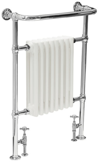 Welbourne Steel Towel Rail in Chrome  with White Radiator | Carron