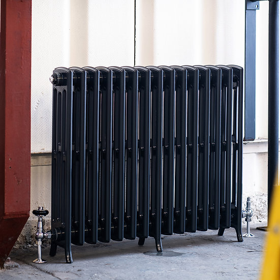 The Edwardian 4 Column Aluminium Radiator | 750mm Tall | Anthracite | Arroll