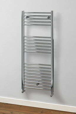 Aldgate Straight Steel Towel Rail | Chrome | Foundry