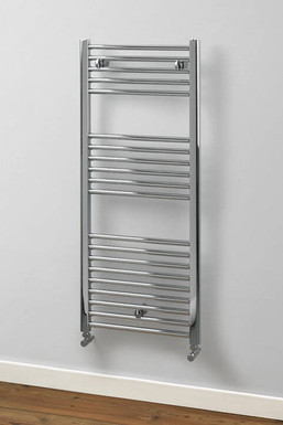 Aldgate Straight Steel Towel Rail | Chrome | Foundry