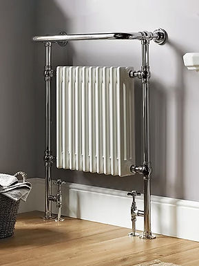 The Regency Floor and Wall Mounted Towel Rail Brass Construction | Vogue UK