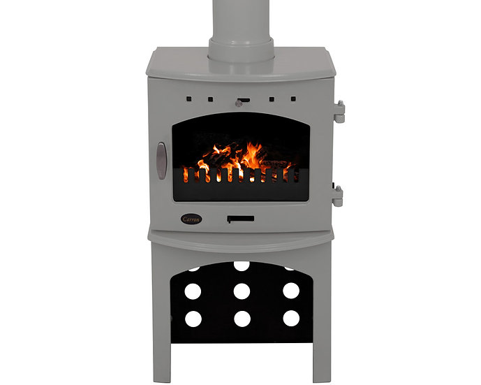 Carron 4.7KW Stove Log Store | Ash Grey