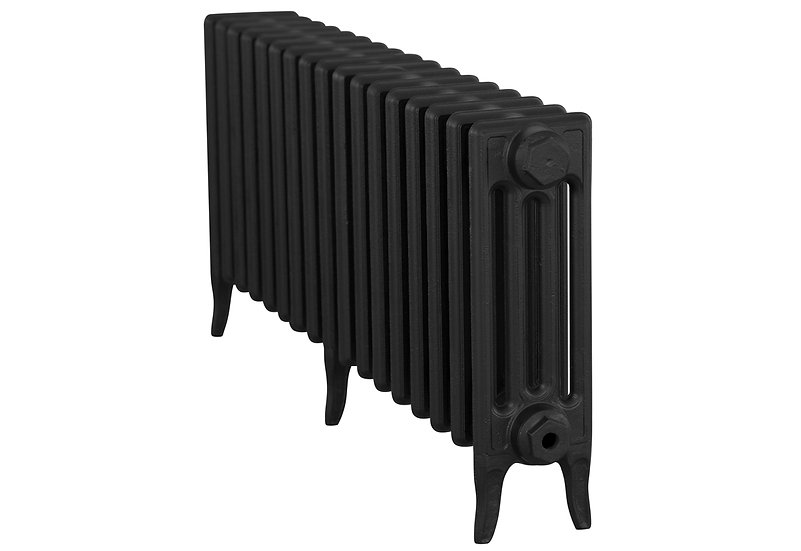 The Victorian 460mm, 4 Column, 17 Sections | Satin Black | Carron