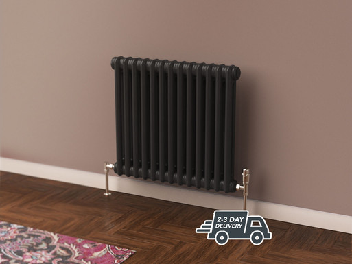 Fitzrovia 2 Column Steel Radiator Horizontal | Anthracite | Foundry
