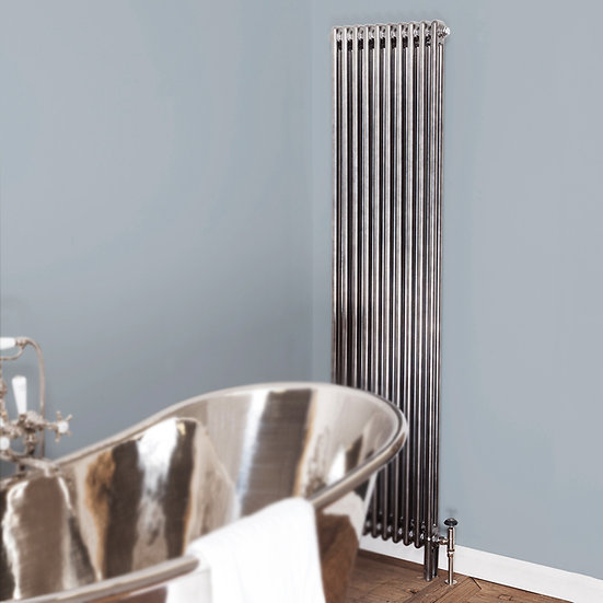 Enderby 2 Column 1910mm Tall Steel Radiator pewter luster | Carron