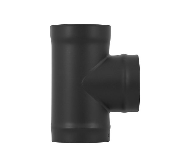 Carron Tee With Branch Spigot Stove Pipe matte black