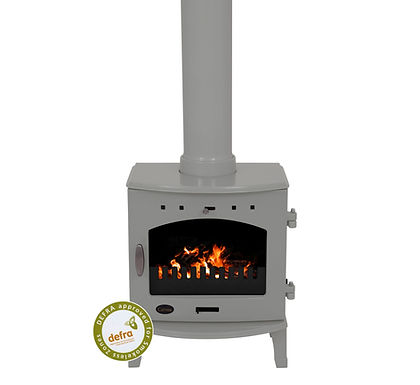 Carron 4.7kW Cast Iron Stove | Ash Grey