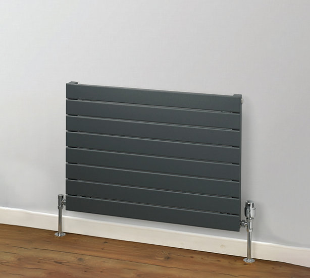Primrose Horizontal Steel Radiator anthracite | Single | Foundry