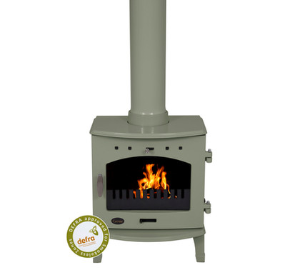 Carron 4.7kW Cast Iron Stove | Sage Green