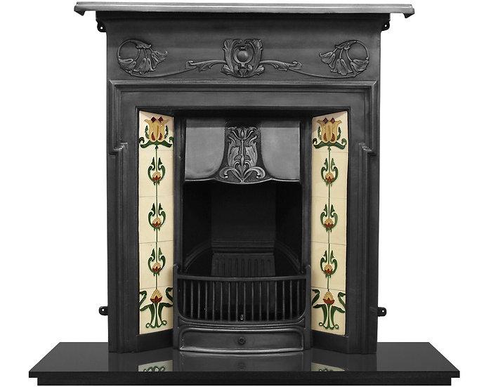Morris Cast Iron Combination Fireplace Matt Black | Carron