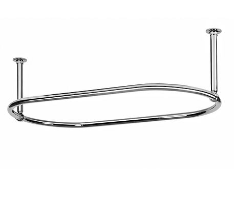 Traditional Large 1135mm Oval Chrome Shower Curtain Rail