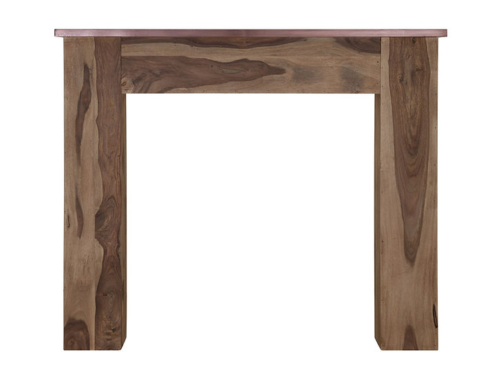 New England Wooden Fireplace Surround With Copper Cloak Shelf | Carron