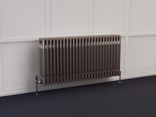 Multisec Steel 4 Column Radiator | Raw | Foundry