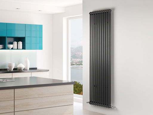 Multisec Steel 2 Column Stocked Radiator | Anthracite | Foundry