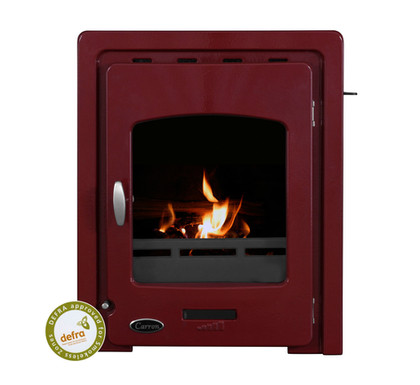 Carron Darwin Inset 4.7kW Cast Iron Stove | Red