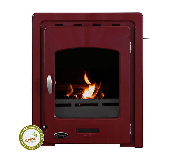 Carron Darwin Inset 4.7kW Cast Iron Stove red enamel