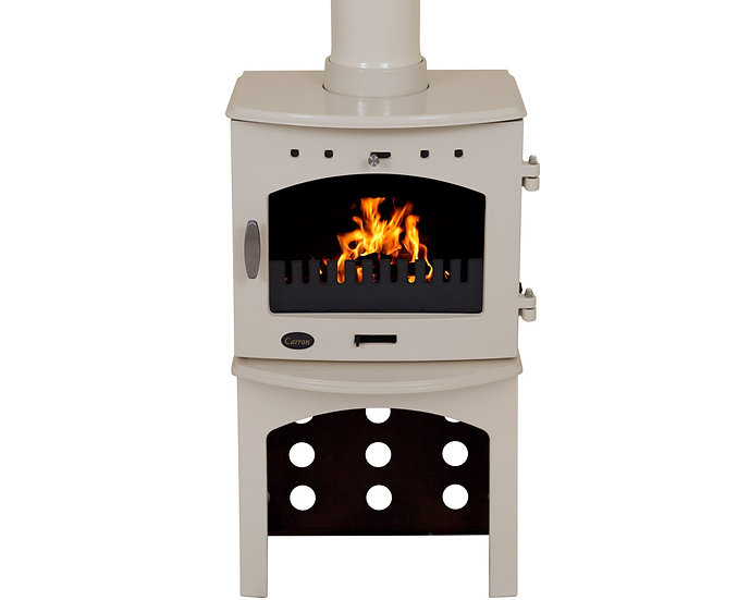 Carron 4.7KW Stove Log Store | Cream Black