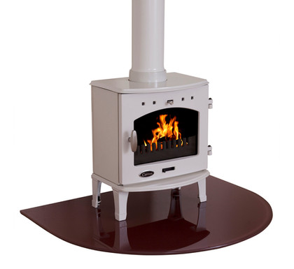 Carron Glass Curved Stove Hearth