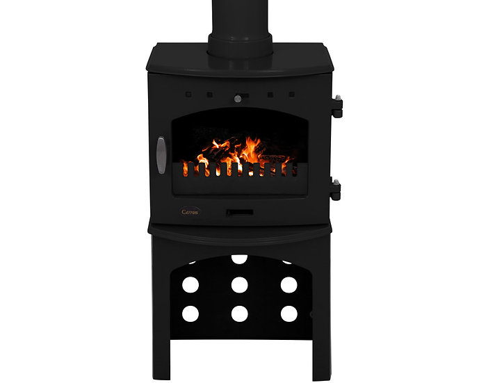 Carron 4.7KW Stove Log Store | Enamel Black