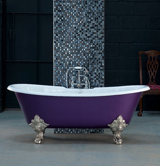 Arroll Milan Double Ended Roll Top Cast Iron Bath | Foundry Cast Iron Radiators and Baths