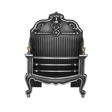 Dorchester Cast Iron Fire Basket   Highlight Polish   Carron