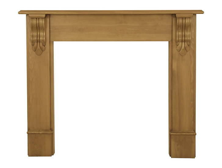 Edinburgh Corbel Wooden Fireplace Surround pine | Carron