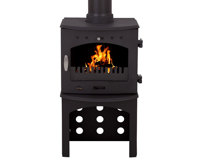 Carron 4.7KW Stove Log Store | Matte Black