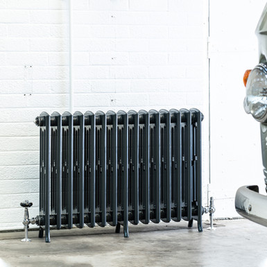 The Edwardian 4 Column Aluminium Radiator | 650mm Tall | Anthracite | Arroll
