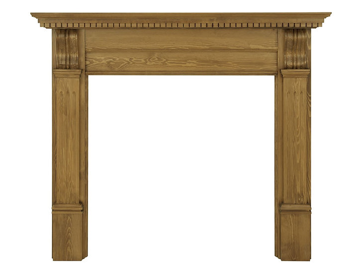 Corbel Wooden Fireplace Surround waxed pine | Carron