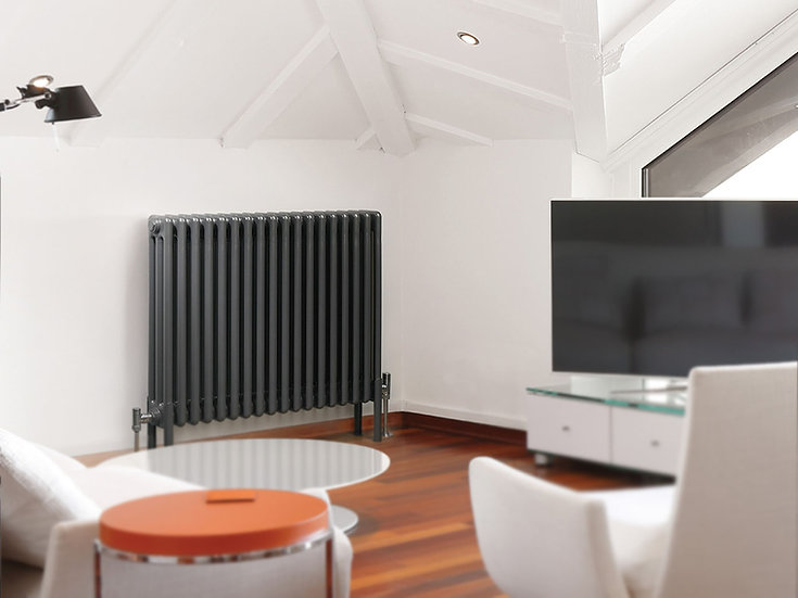Multisec Steel 3 Column Radiator | Anthracite | Foundry