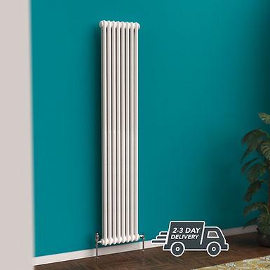 Fitzrovia 2 Column Steel Radiator Vertical | White | Foundry