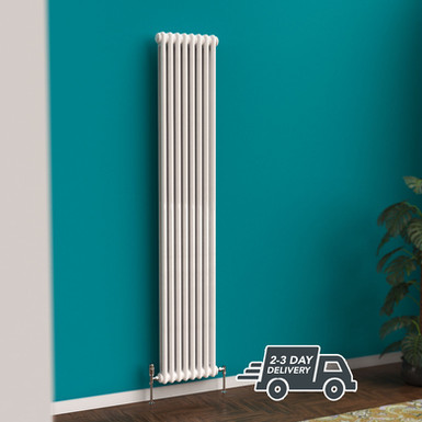 Fitzrovia 2 Column Steel Radiator Vertical | White | Foundry