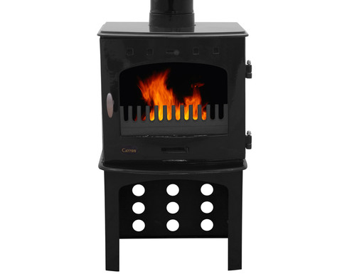 Carron 7.3KW Stove Log Store | Black Enamel