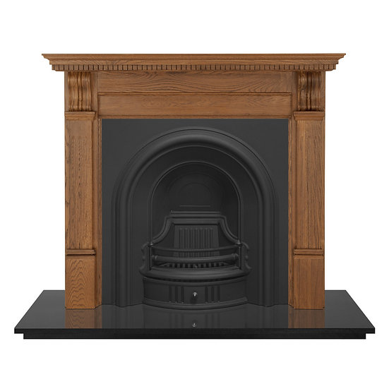 Coleby Cast Iron Fireplace Insert black   Carron