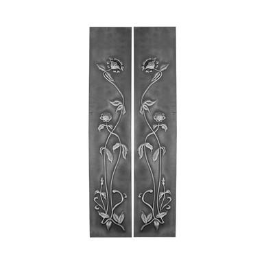 Set of 2 Art Nouveau Highlight Polish Tile Panels | Carron