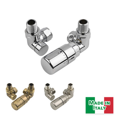 Radius Thermostatic Valve Set | Corner | MHS