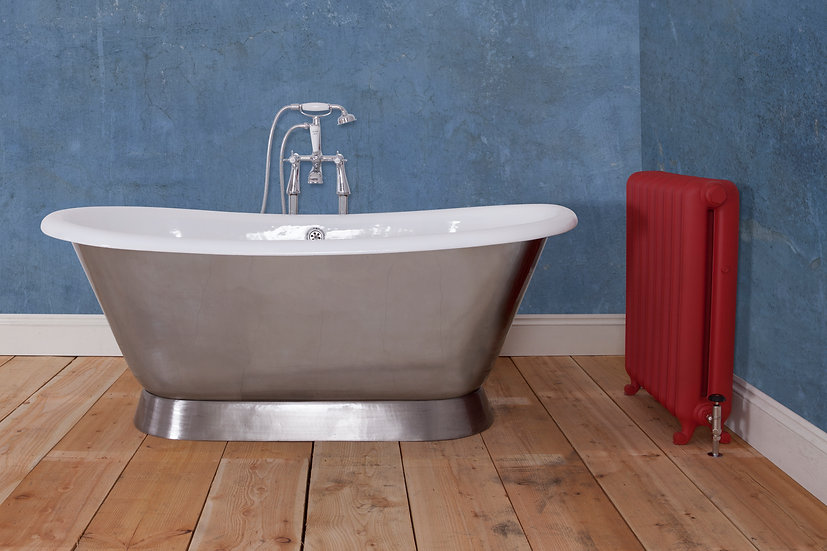 Jig Montreal Pewter Luster Cast Iron Bath | Foundry Cast Iron