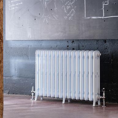 The Edwardian 4 Column Aluminium Radiator | 650mm Tall | White | Arroll