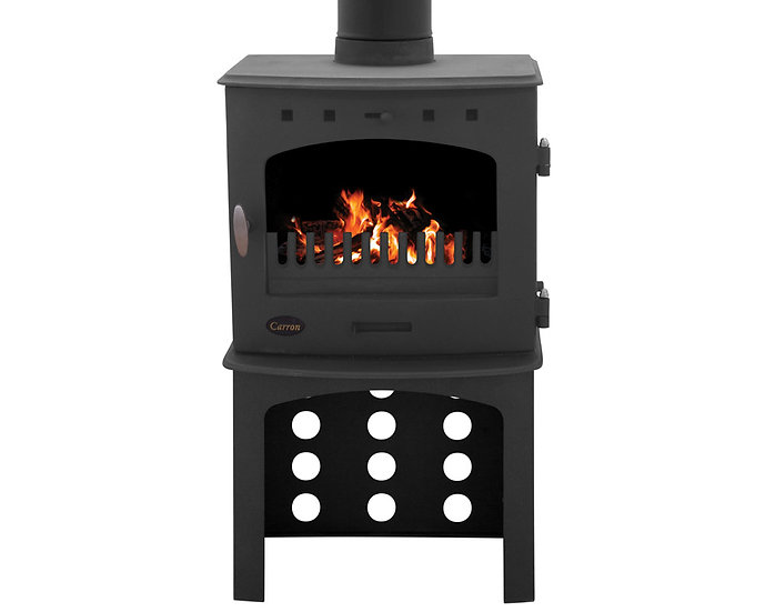 Carron 7.3KW Stove Log Store | Matte Black